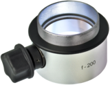 Objective lens WD=200mm with focusing mechanism and sterilizable cap_