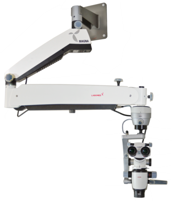 Magna Microscope with Wall Mount, long arm