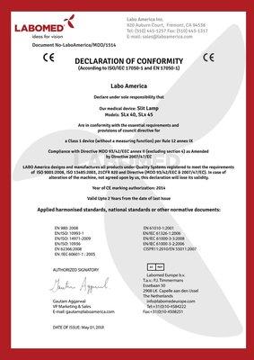 Declaration Labomed SL40 and SL45