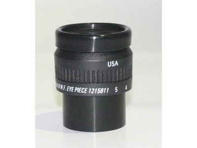 10x/20mm wide field eyepiece with XY scale 10mm/100 parts, focusable, with eye guard