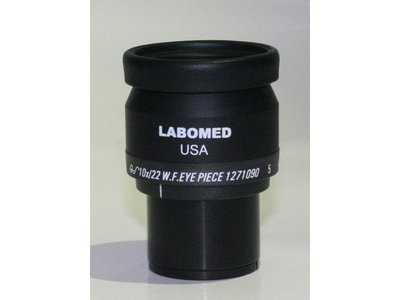 10x/22mm wide field eyepiece with XY scale 10mm/100 parts, focusable, with eye guard