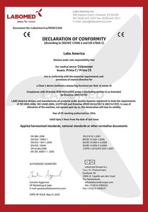 Declaration Labomed Prima C and CS