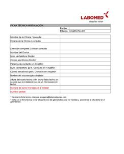 Ficha tecnica instalacion Labomed Amplifon