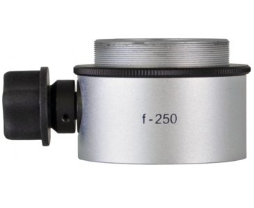 Objective lens WD=250mm with focusing mechanism and sterilizable cap