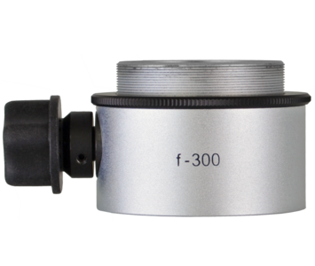 Objective lens WD=300mm with focusing mechanism and sterilizable cap