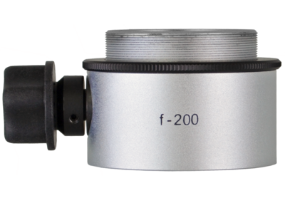 Objective lens WD=200mm with focusing mechanism and sterilizable cap