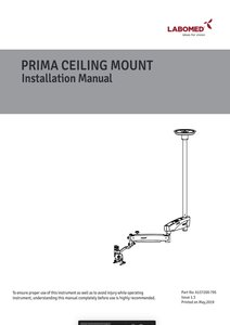 Manual Prima Ceiling mount installation
