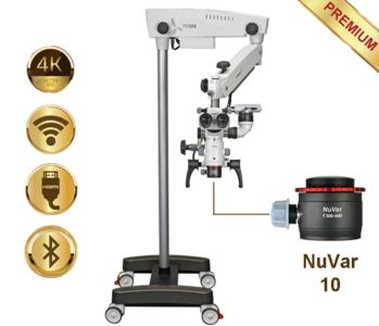 PrimaDNT Microscope Premium, mobile stand, NuVar 10