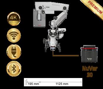 PrimaDNT Microscope Premium, Wall mount, NuVar 20
